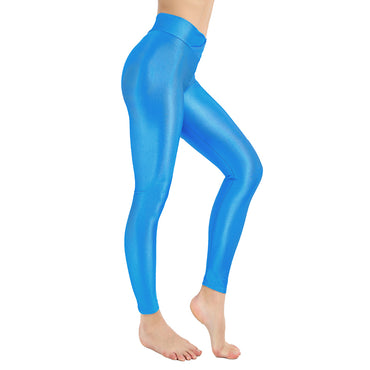 Women Shiny Neon Leggings For Women