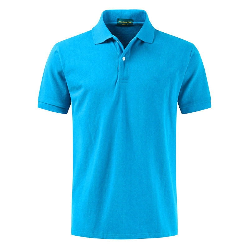 New Fashion Slim Fit Short Sleeve T Shirt Casual Turn-Down Collar