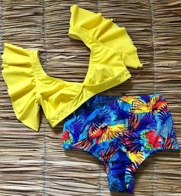 2020 New Swimsuit Women Swimwear High Waist Bikini