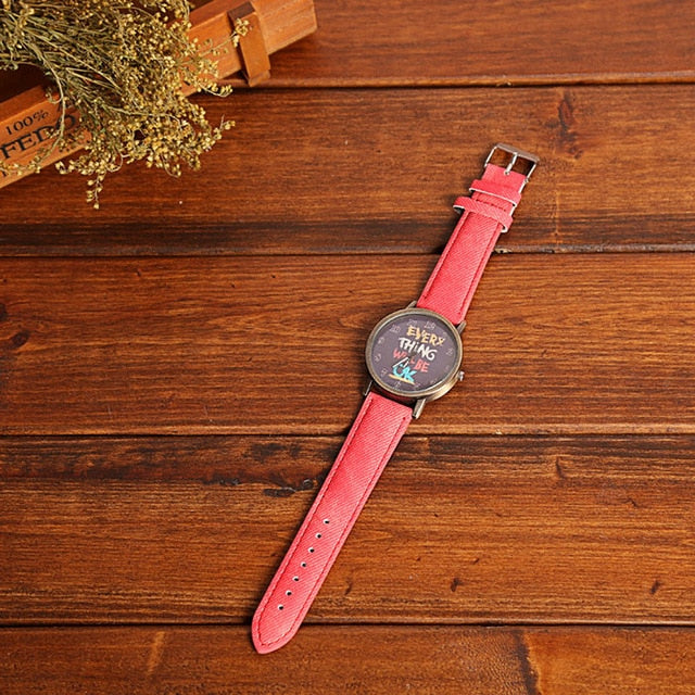 New Simple Wrist Watch Women Ladies Quartz Wristwatch For Woman
