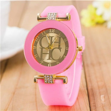 New simple leather Brand Geneva Casual Quartz Watch Women