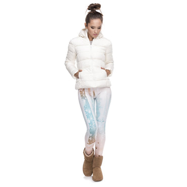 New Design Women Legging Snow Marks Printing Fitness