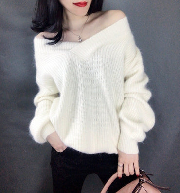 2020 New Soft Warm Women Sweater V-shape