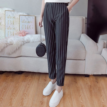2020 New Summer Autumn Pencil Pants OL High Waist Trousers