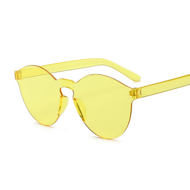 New Fashion Rimless Vintage Round Mirror Sunglasses Women