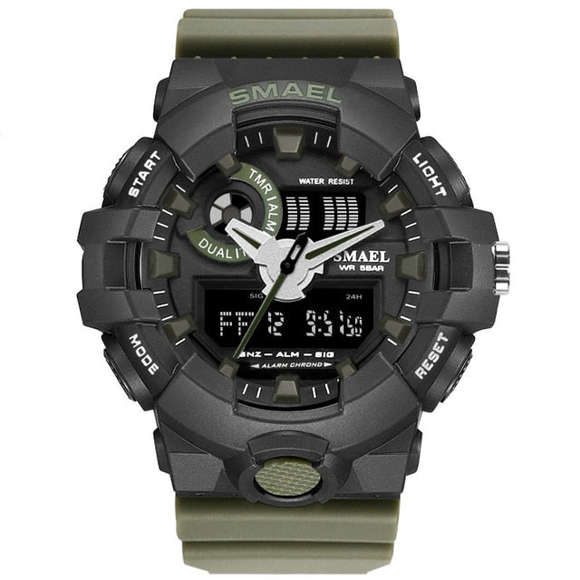 New Camouflage Military Watch SMAEL Watch Men Sports Watch LED Quartz Clock