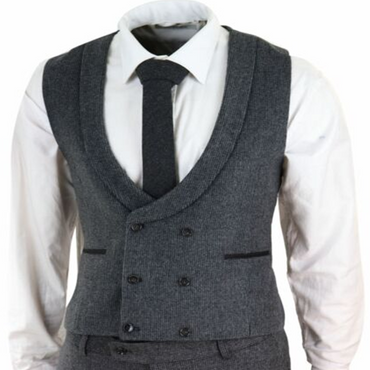 2020 New Mens Suits Wool Blend Mens Grey 3 Piece