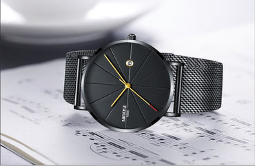 New Men's Watch Ultra-thin Fashion Watches Simple Business