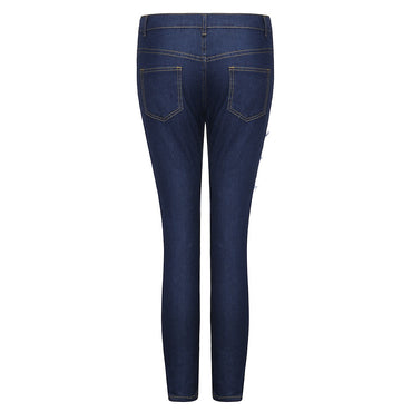 New Jean femme Lady High Waisted Skinny Hole Denim Jeans