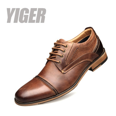 New Men dress shoes genuine leather male formal big size