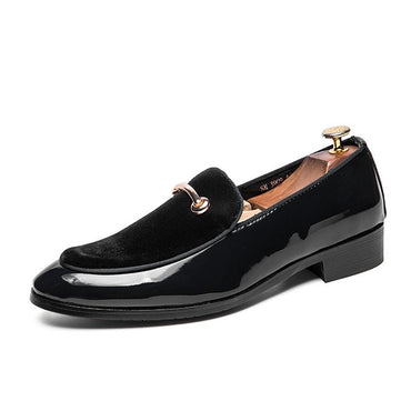 New Men Dress Shoes Shadow Patent Leather Luxury Fashion