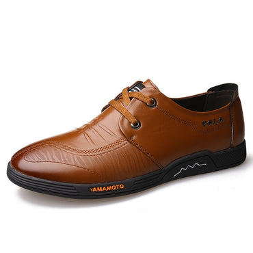 New Men's Business Dress Shoes Genuine Leather England Fashion