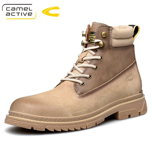 2020 new arrivals high quality Men Genuine leather Martins Boots Platform