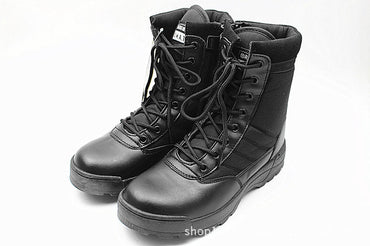 New Us Military Leather Combat Boots for Men