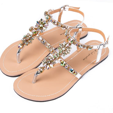 NEW Women's  summer diamond thong sandals beach