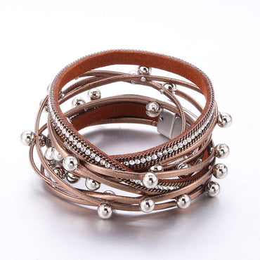 New Jewelry Leather Multilayer Bracelets for Women
