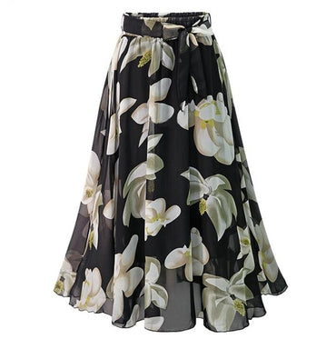 Women Chiffon Skirt Europe Fashion Bow Saia Midi Lining Jupe