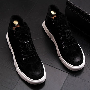 New Men Fashion Casual Ankle Boots Spring Autumn