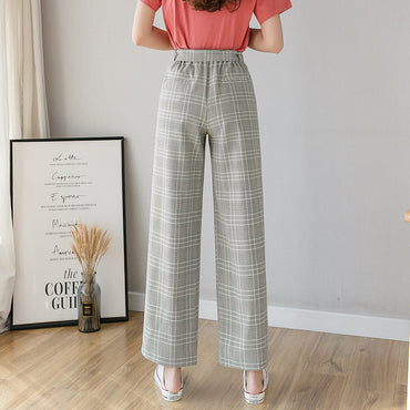 Spring Summer New High Waist Thin Chiffon Wide Leg Pants Women's Loose Casual