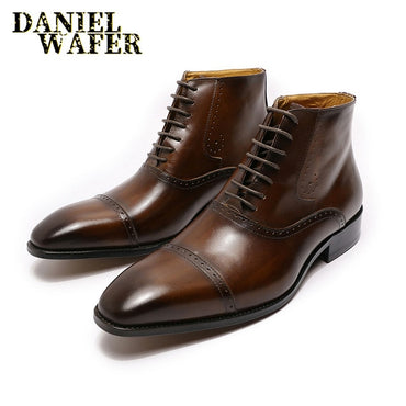 New Fashion Men Leather Dress Shoes
