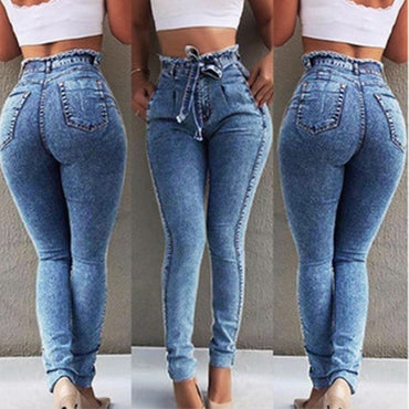 New High Waist Jeans For Women Slim Fit
