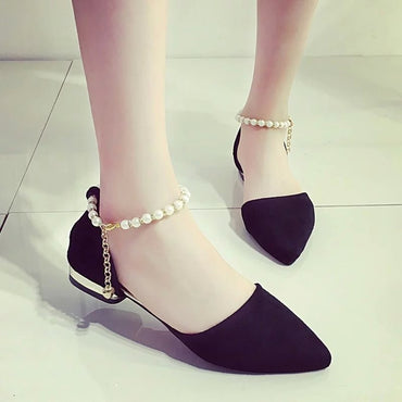 Summer New Flat Sandals with A Buckle Low Heel Women's Shoes