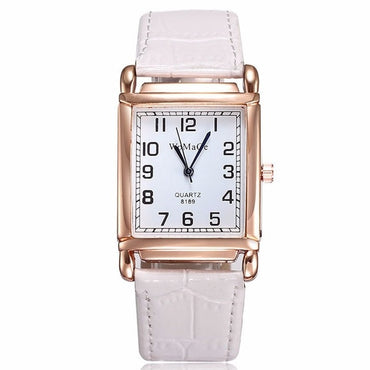 New Watches Women Square Rose Gold Wrist