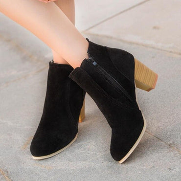 New Women Spring Autumn Ankle Boots Comfort Low Heels Shoes
