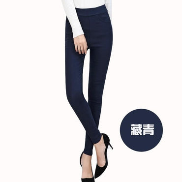 Spring New Fashion Women Pencil Pants Casual Elastic Waist Skinny