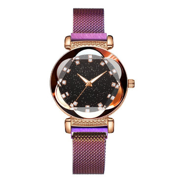 New Luxury Women Watches Fashion Elegant Magnet Buckle Rose Gold