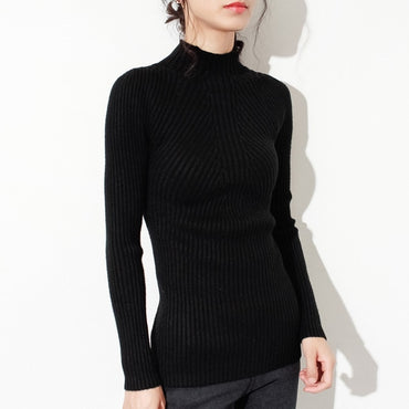 2020 Autumn New fashion Women ladies Turtleneck soft thin sweater