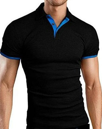 Brand Summer New Men's T-shirt Lapel Casual Short