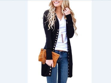 New Fashion Elegant Autumn Long Jacket Coat Women