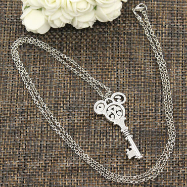 New Fashion Tibetan silver color Pendant vintage mouse key Choker Charm Short Long DIY Necklace