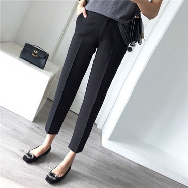Women Pants Leisure High Waist Long Pants New Office Ladies