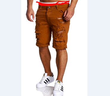 New Fashion Men Destroyed Ripped Jeans Shorts Plus Size