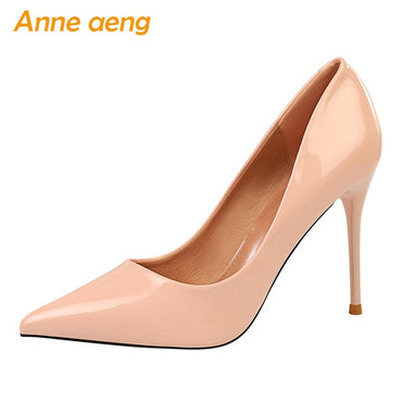 2020 New Women Pumps 9.5cm High Thin Heels Pointed