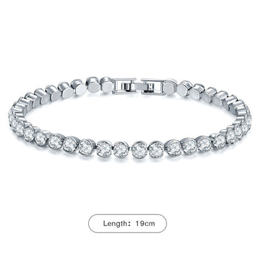 New Women Fashion Silver Color Bracelets Luxury