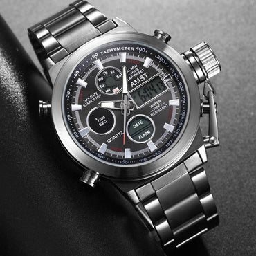 New Famous Luxury Brand Men Waterproof Full Steel Watches