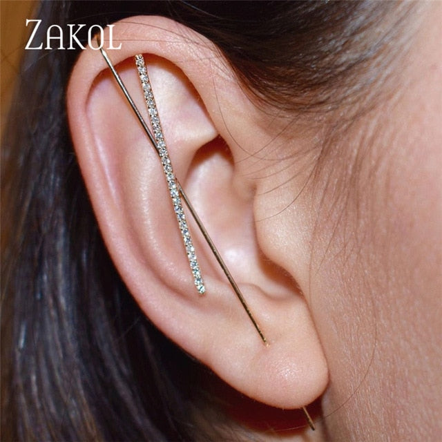 New Hot Cubic Zirconia Crystal Stud Earrings Accessories for Women
