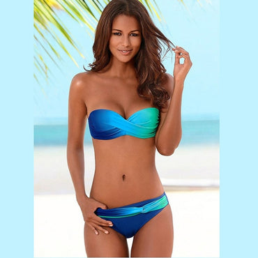 Women Sexy Print Swimwear New Female Two Piece