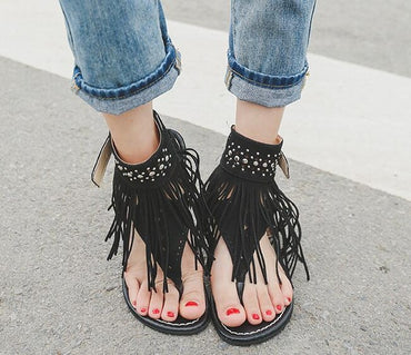 Women Sandals Fashion Tassel Summer Shoes