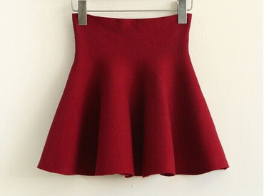 New Autumn Winter Short Skirts Woman High Waist