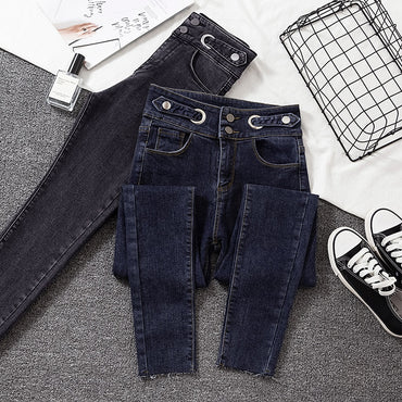 New Woman Jeans Skinny High Waist Gray Denim Pencil