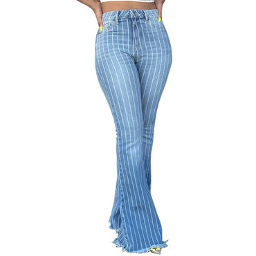 New Womens Jeans Pants Skinny Stretch Denim Flare Pants
