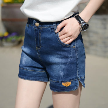 New Style Denim Shorts Women's Wide-Leg Loose