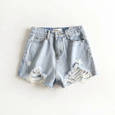 Lxw-255 Women's Dress New Products Frayed Denim Shorts