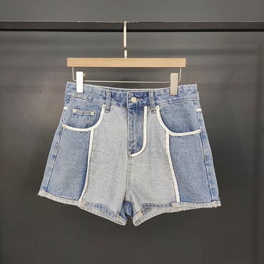 2020 New Summer Women Denim Shorts Patchwork Fashion Casual Cotton
