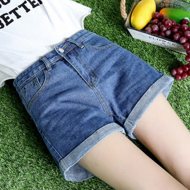 2020 Summer New Style Denim Shorts Women's Korean-style High-waisted