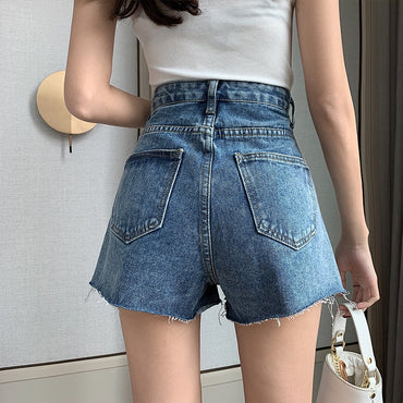 2020 Summer New High-waisted Denim Shorts Female Korean